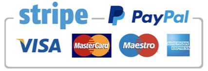 Paiements sécurisés via STRIPE et PAYPAL