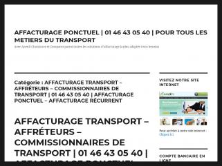 AFFACTURAGE TRANSPORT – AFFRÉTEURS ...