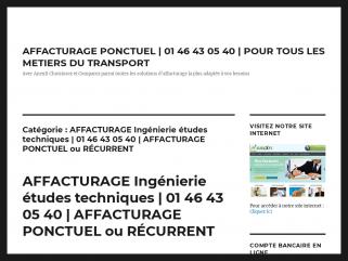 AFFACTURAGE Ingénierie études techniques | 01 46 43 05 40 ...