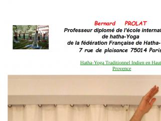 Bernard Prolat professeur de Yoga traditionnel dans le 04