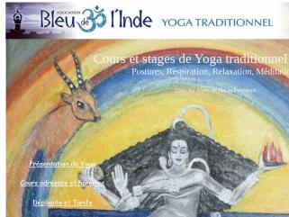 Bleu de l'Inde association de Yoga traditionnel