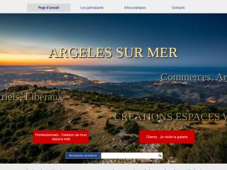 CAI Commerces Artisans Industriels Argeles sur mer , Galerie marchande virtuelle commerces Argeles sur mer
