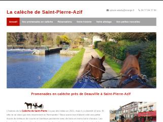 La calèche de Saint-Pierre-Azif près de Deauville