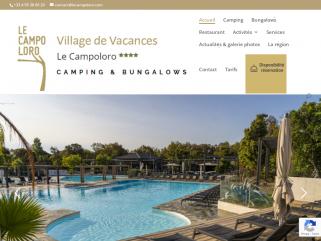 Le camping – village de vacances Le Campoloro, qualité 4 étoiles