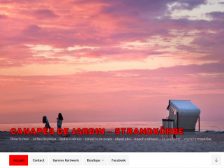 Canapés de jardin ou de terrasse (beach chairs ou Strandkörbe)