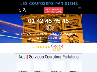 Coursiers Parisiens, coursiers urgent Paris