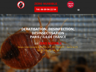 Dératisation désinfection à Paris, Société Zero Nuisible Paris,