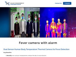 Covid fever thermal camera with alarm caméra a détection de fièvre