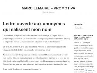 Marc Lemaire Promotiva Droit de réponse