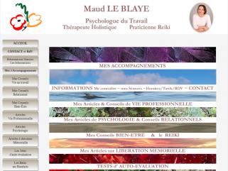 Maud Le Blaye, Psychologue du travail, Thérapeute holistique, Praticienne Reiki