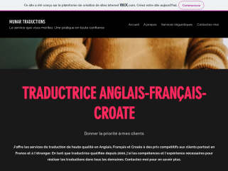 Traductrice Anglais-Français-Croate