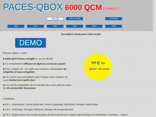 Préparation au concours Paces - Qcm paces en ligne - demo