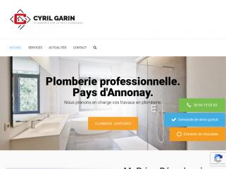 Plomberie Cyril GARIN, spécialiste chauffage toutes énergies et climatisation réversible, climatisation, zinguerie, énergies renouvelables.