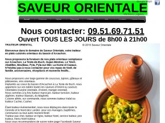 Saveur Orientale, traiteur Arcachon, La Teste-de-Buch, Gujan-Mestras, Le Teich, Cazaux, Pyla-sur-Mer.