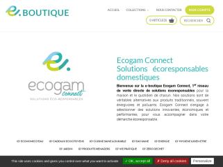 Ecogam Connect ECONOMIE D'EAU CADEAUX ECOCITOYENS  CUISINE SAINE & DURABLE  EAU PETILLANTE  EAU SAINE  ENERGIE  HYGIENE & BIEN-ETRE  JARDIN  PRODUITS MENAGERS  VIE PRATIQUE