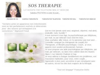 PSYCHOTHERAPIE et THERAPIE DE COUPLE