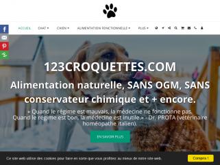 123CROQUETTES Pet Food & Care Nature 100% naturel, SANS OGM, SANS conservateur chimique