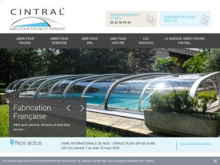 Abri de piscine Cintral : fabricant abri sur mesure