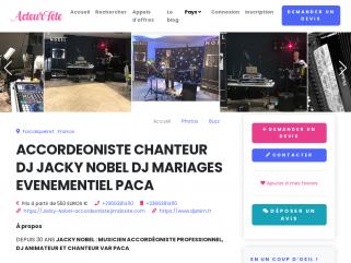JACKY NOBEL ACCORDEONISTE DJ THE DANSANT GUINGUETTE  MARIAGE PACA BAL MUSETTE SOIREES RETRO VAR 83 BUCHES DU RHONES 13 ALPES DE HAUTES PROVENCE 04 ALPES MARITIMES 06 MONACO