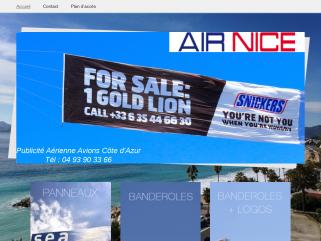 Banderoles publicité aérienne PRO AIR NICE sur les plages