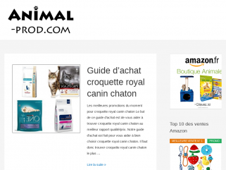 Animalerie en ligne animal prod