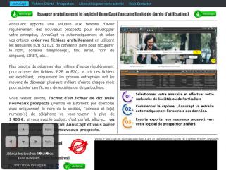 AnnuCapt permet de récupérer automatiquement les coordonnées des sociétés ou des particuliers.
