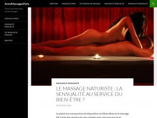 Annuaire des MASSAGES EROTIQUES A PARIS, massages naturistes et sensuels à Paris