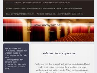 Archysax.net, partitions et arrangements musicaux