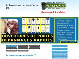 Serrurier Paris tel:01.47.70.49.39 Serrurerie Serruriers