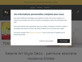 Boutique Art Style Déco - vente tableaux abstraits contemporains - peinture abstraite moderne et design - dessins encre de chine - reproductions d'art - artiste-peintre Ellhëa