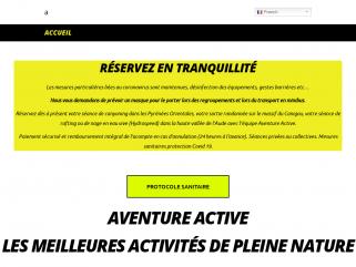 Sports et loisirs en Occitanie Pyrénées Orientales - Canyoning du Llech - Rafting dans l'Aude - Canyoning facile Galamus et Molitg - canyoning perfectionnement Ceret Gourg des Anelles