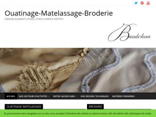 Le spécialiste Français ISO 9001 : Ouatinage / Matelasserie / Broderie…