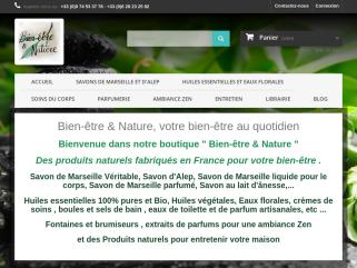 """Bien-être & Nature, votre bien-être au quotidien Bienvenue dans notre boutique """" Bien-être & Nature """" Des produits naturels fabriqués en France pour votre bien-être ."""