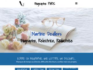 Biographe Paris, Martine Devillers : Biographe famille Paris