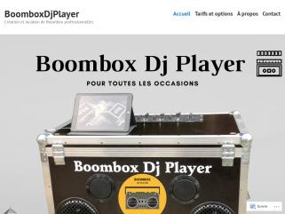 BoomboxDjPlayer Création et location de Boombox professionnelles