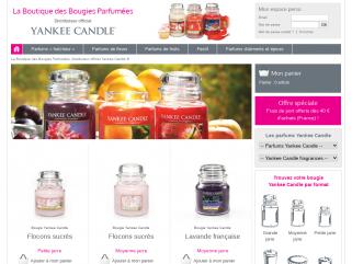 Bougies yankee candle, Vente en Ligne, distributeur officiel en France