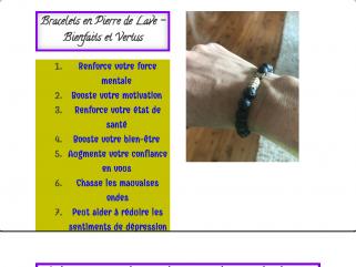 Bracelets en Pierre de Lave – Bienfaits et Vertus