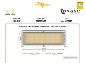 TOILE DE BRISE VUE DE BALCON SUR MESURE | Stores & Pergolas.com