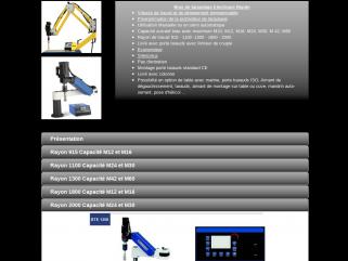 Bras de taraudage pneumatiques, electriques, pneumatiques