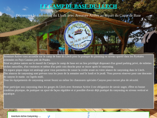 Camp de base canyoning du Llech Aventure Active