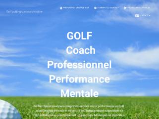 Coach en préparation mental golf Entrainement putting, approche, bunker, practice, parcours