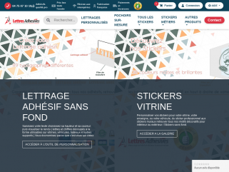 Lettres adhésives: Lettres stickers: Kit complet de lettres autocollantes, pochette de lettres adhesives.