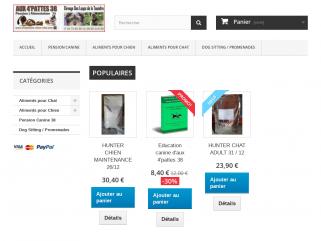Croquettes aliments materiel elevage pension chien chat boutique en ligne pour animaux domestiques