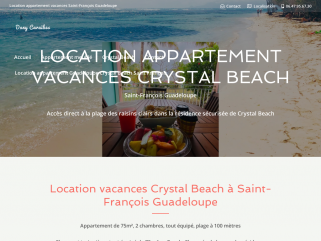 Location appartement Guadeloupe Crystal Beach Saint François | Dany Caraïbes