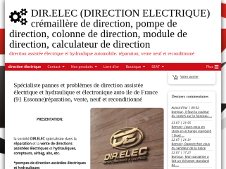 DIR.ELEC (DIRECTION ELECTRIQUE) crémaillère de direction, pompe de direction, colonne de direction, module de direction, calculateur de direction