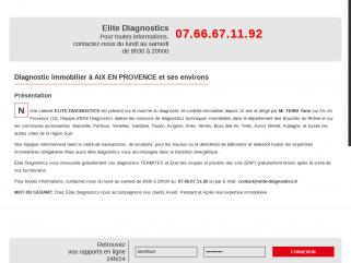 Elite Diagnostics- société de diagnostics immobiliers sur Aix en Provence - Marseille mais également sur sur toute la région PACA