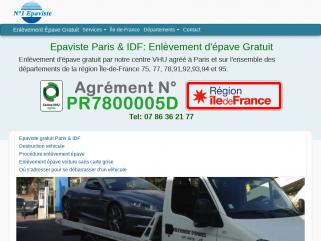 Enlèvement épave gratuit - Epaviste Paris et Île-de-France