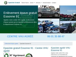 Epaviste agréé VHU - Enlèvement épave gratuit Essonne 91