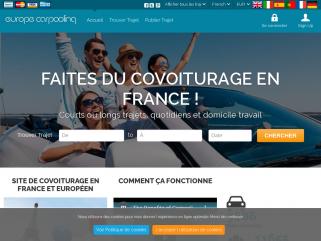 Site de covoiturage -Trajet Travail quotidien, Aéroport, Shopping, France & Europe | Europe Carpooling