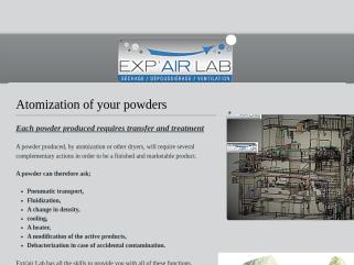Exp'air Lab, Tour d'Atomisation, Tunnel de séchage, Séchage sous-vide, Séchage par micro-ondes.